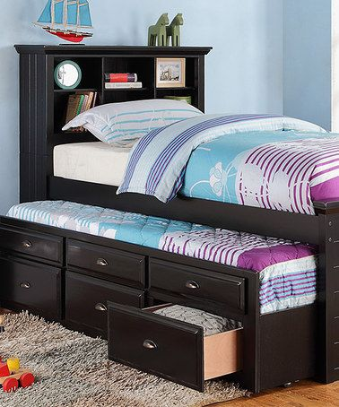 Hollywood D Cor Black Twin Trundle Bed Drawers