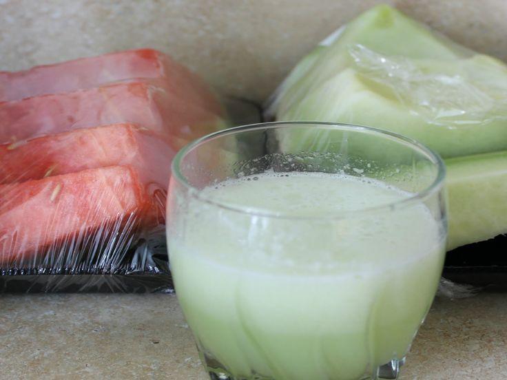 Deliciosa bebida de melon para eliminar el exceso de líquidos en el cuerpo.  Elimina la Retención de Líquidos y tóxinas en 2 días.