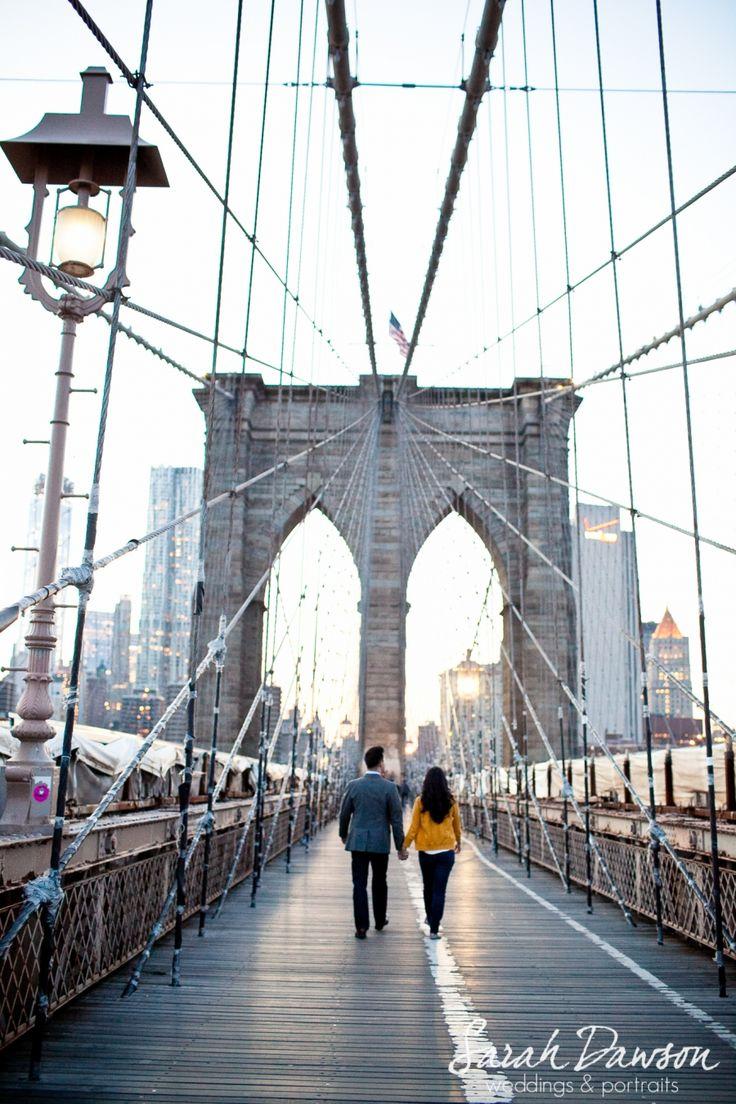 engaged, brooklyn bridge, New York City Engagement Session - Sarah Dawson Photography