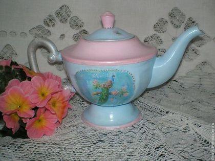 """Старый чайник """"Павлин"""" - металл,чайничек,чайник,коллекция,прошлый век"""