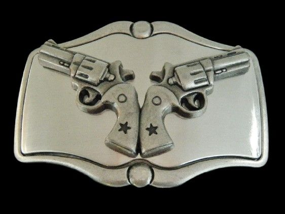 Western Cowboys Cowgirl Rodeo Guns Vintage Belt Buckles #guns #revolvers #gunsbeltbuckles #gunbuckles #beltbuckles #western #weapon #westernbuckles