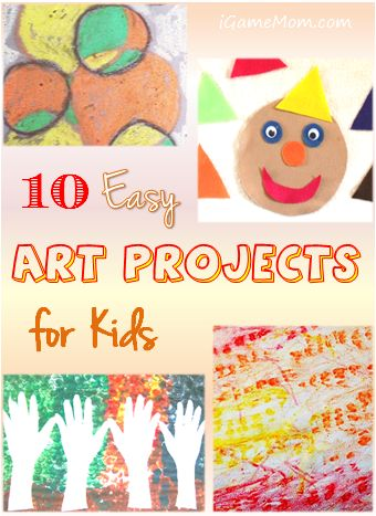 10 easy art projects for kids #LearnActivities