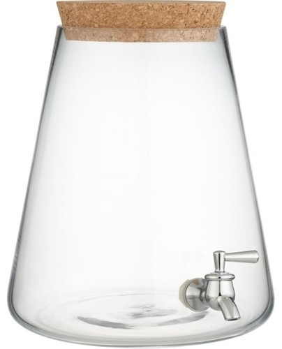 Glass Beverage Dispenser contemporary serveware