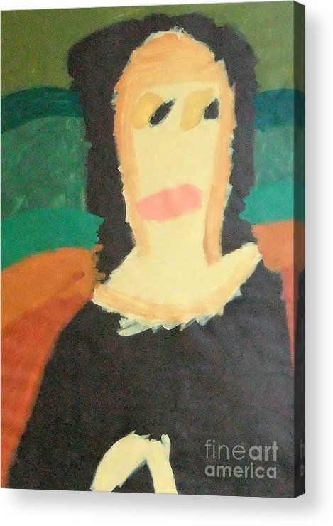 Patrick Francis Acrylic Print featuring the painting Mona Lisa 2014 - After Leonardo Da Vinci by Patrick Francis