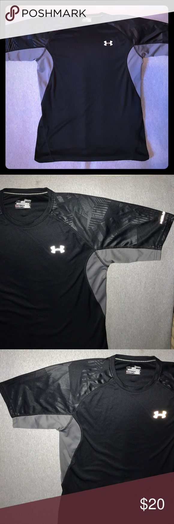 Under Armour ColdBlack HeatGear Men's Athletic Top For sale is a Size medium, regular fit, Under Armour ColdBlack HeatGear Men's Athletic Top. Item is in excellent condition and a must have for the athlete in your family. Shoulders incorporate a woven tribal design into material and gray color along underside of arms and rib cage. Please not in photos. Under Armour Shirts Tees - Short Sleeve