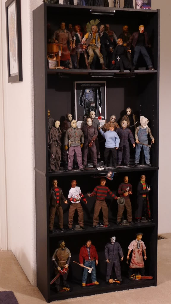 The kollection of King Darkness - Sideshow Freaks - Look at all the lovely Jason Voorhees horror action figures