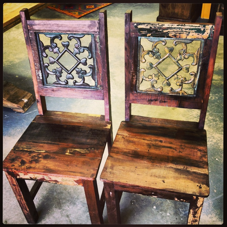 These New Dining Chairs Are Made From Solid Wood With Scroll Iron Back  Detail. Available At The Green Door Company, Oxford, MS