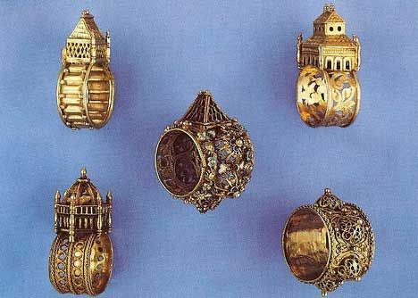 collection of antique jewish wedding rings - Jewish Wedding Rings