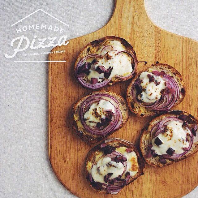 Purple Pizza Toast