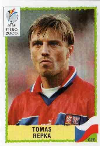 Tomas Repka of Czech Rep. 2000 European Championship card.