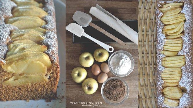 Plumcake alle mele senza glutine e senza lattosio | Torta alle mele Light di @vicaincucina