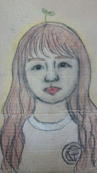 portrait cardboard after