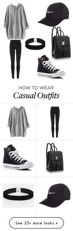"""casual day"" by jaidaulloa on Polyvore featuring Converse, DKNY and ASOS"