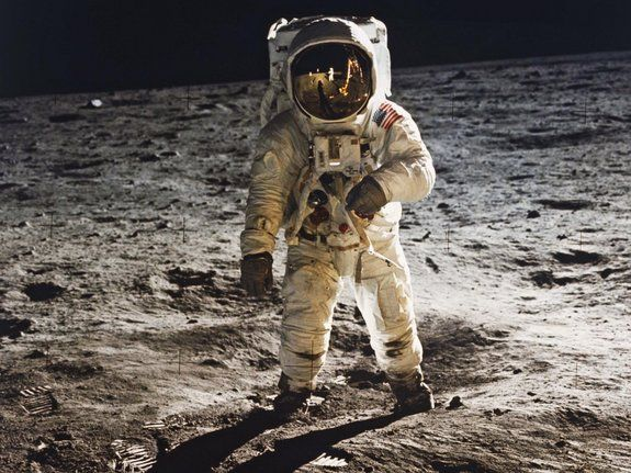The High and the Mighty...  Buzz Aldrin Walks on the Moon in 1969