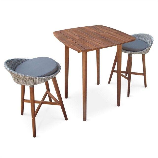 The 25 best table de bar haute ideas on pinterest tabourets de bar en bois - Ensemble table haute et tabouret ...