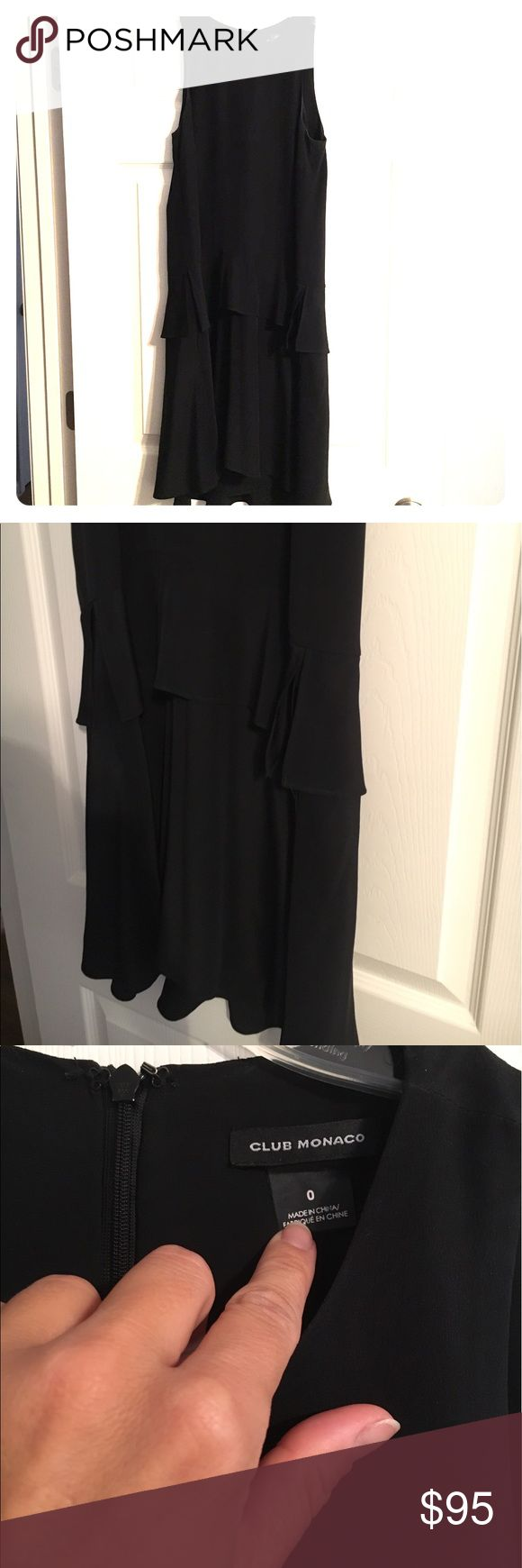 "⚡️SALE⚡️Club Monaco ""Nora"" Dress This dress is nearly perfect in every way. Black silk with a tiered skirt with pockets. It can easily be dressed up or down. The fit is very forgiving and really flattering. I'm just ready for something new. This one has served me well. *currently being dry cleaned. Ready to ship 7/11/17* Club Monaco Dresses Mini"