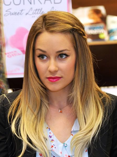 Blondie ombre.: Lips Color, Haircolor, Ombre Hair, Pink Lips, Girls Hairstyles, Hair Style, Side Braids, Lauren Conrad, Hair Color