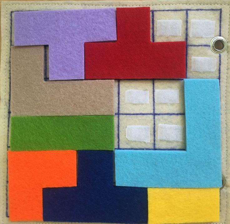 Felt tetris/puzzle.