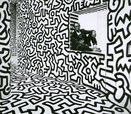 Keith haring art black and white google search