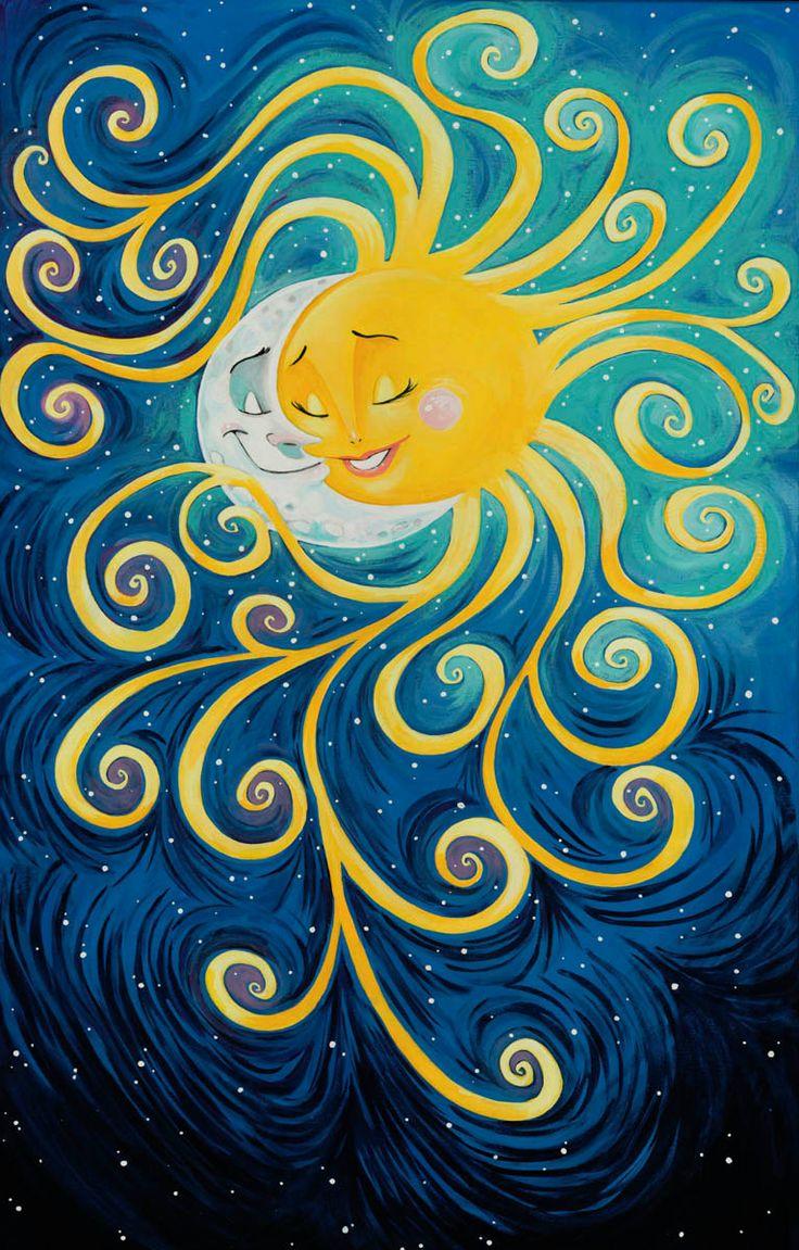 Luna y sol acrilico