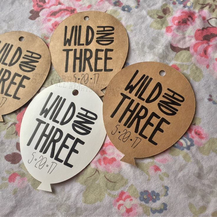 Wild And Three Birthday Theme • Party Favor Tags • Gift Bag Tags • Custom Tags • 12-24ct by RRRIOTmama on Etsy https://www.etsy.com/listing/495897740/wild-and-three-birthday-theme-party