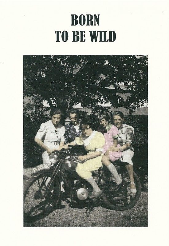 Kartoenfabriek: KTF1078 - Ansichtkaart - Born to be wild