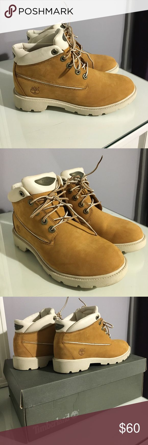 Timberland 5 Eye Chukka EUC Timberland 5 Eye Chukka in juniors size 5.5 (unisex) equivalent to a woman's 7.5-8. My daughter is a size 8 in women's & fits comfortably. Great winter boots. Will send in original box. All reasonable offers welcomed 🙂 Timberland Shoes Boots