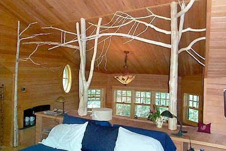 Adirondack custom interior twig work rustic ideas pinterest trees sweet home and sweet - Adirondack bed frame ...