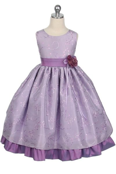 lavendar wedding dresses | ... Girl Dress : wedding dress flower girl dress lilac purple 142 Lilac 2
