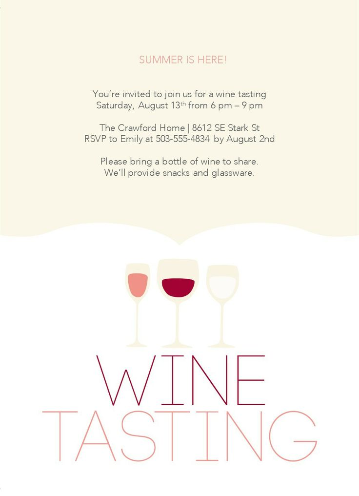 Wine Tasting Party Invitation Templates