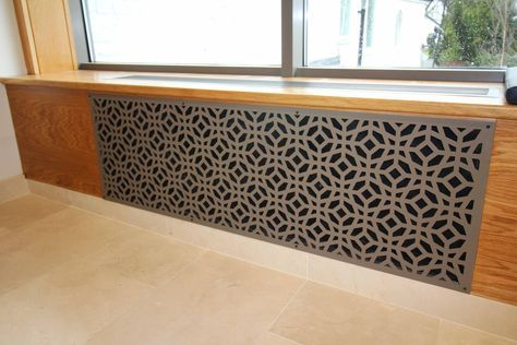 Laser cut screen - Radiator covers  - Design by Miles and Lincoln. www.milesandlincoln.com