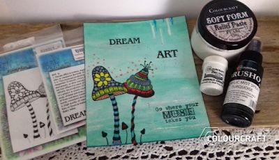Home is where the craft is.....: Rubberdance stamps and Colourcraft blog hop
