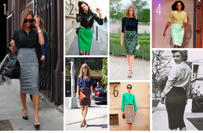 Pencil skirt style...