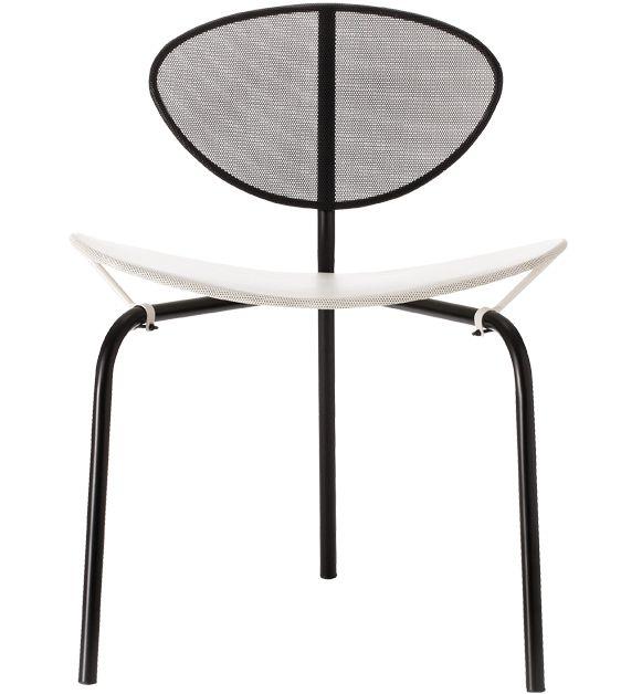 GUBI // Nagasaki Chair - black/white by Matheiu Matégot