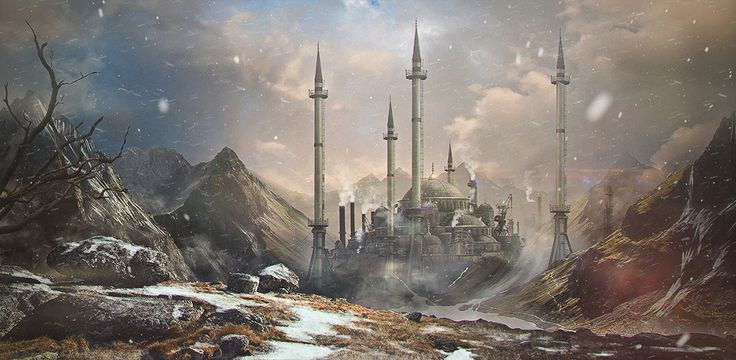 steampunk landscape by grimdreamart - photo #20