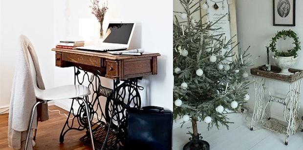 Decora con piezas antiguas reinventadas, dándoles una doble función, decorativa y práctica