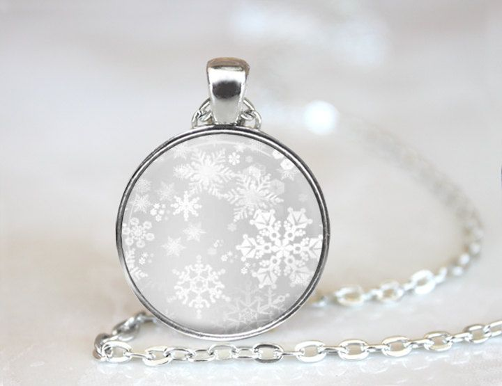 Frozen Necklace, Frozen Snowflakes, Christmas Necklace, Winter Necklace, Snow Necklace, Snowflake Pendant, Frozen Jewelry (ZM150-3) by EmpireJune on Etsy