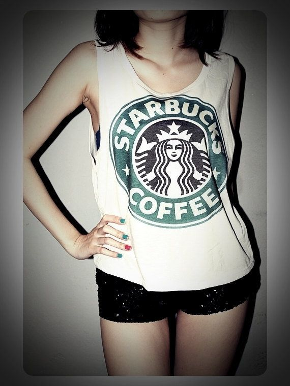 Starbucks Shirt Tank Top Starbucks T-Shirt! :D