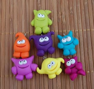 polymer clay monsters! cute!