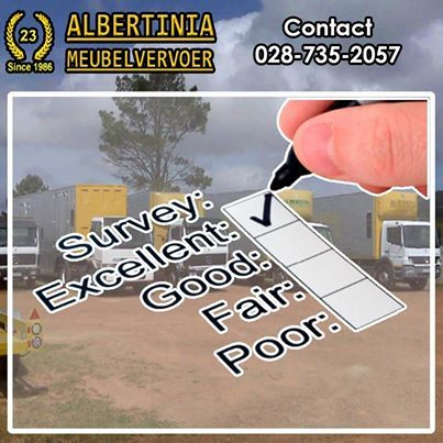 Albertinia Meubelvervoer strives for Excellence in the quality of servis we provide. Our trucks and storage facilities are all kept to the highest standard to ensure that service. #Storage #Service #Removals
