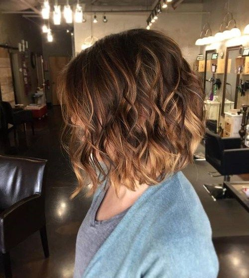 Brown Ombre Balayage Bob