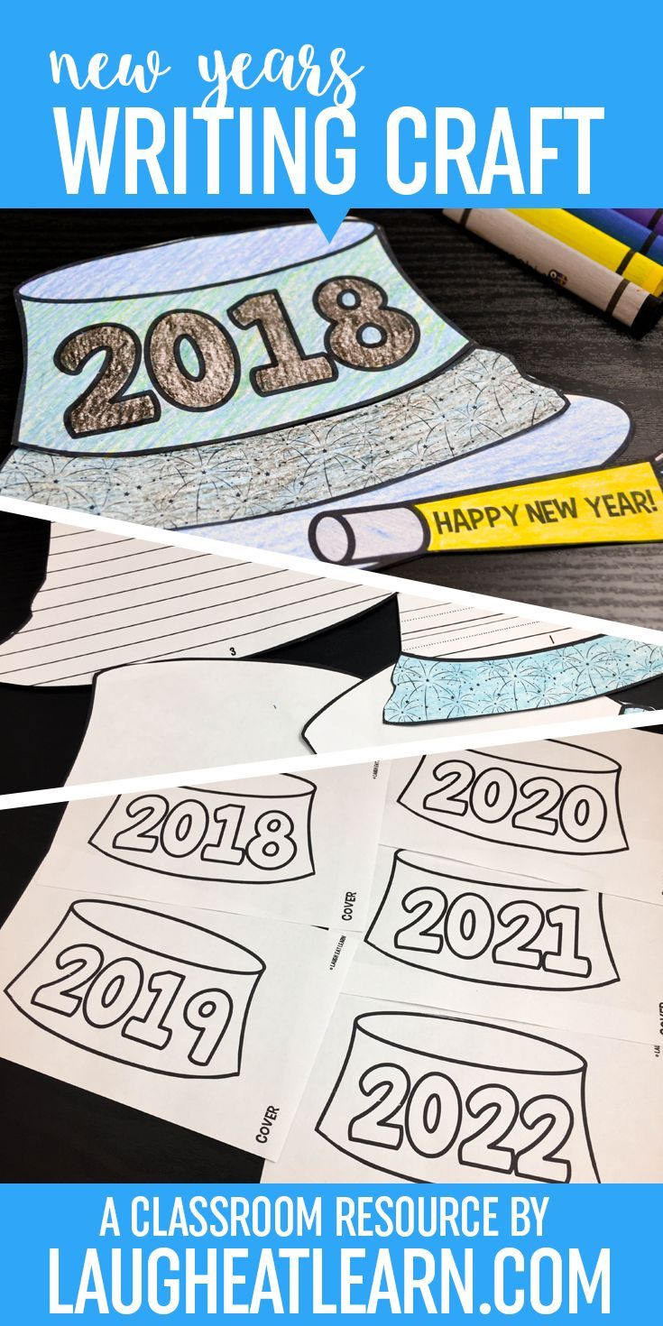 This Happy New Years Celebratory writing book is perfect for any activity leading up to or after the New Year, setting goals and resolutions, or anything else fun for school. The uses are endless with this New Years book! The party hat book comes with 3 spaces to write, each piece of the the hat flipping to the top to create a book. Each piece of the book is created to look seamless when the book is closed.