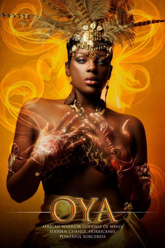 """OYA - Lady of Winds and Change  (Señora de los Vientos y el Cambio      """"Yoruba African Orishas"""" Photography Series by James C. Lewis"""