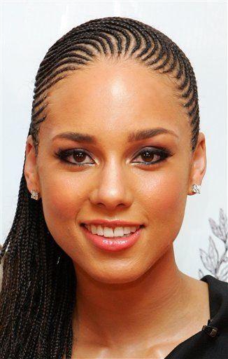 Alicia Keys --skinny braids