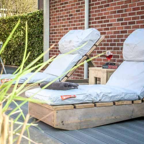 Steigerhouten ligbed van DroomHout   tuinidee   tuininrichting   inspiratie zomer 2017