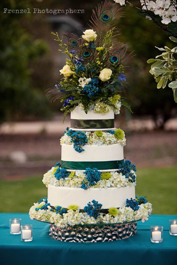peacock colored wedding cakes 17 best images about peacock wedding theme on 18155