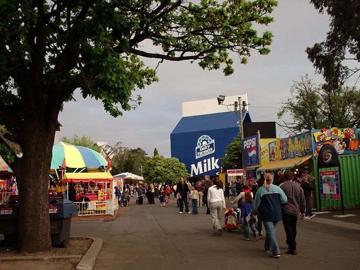 Royal Melbourne Show. The big milk carton was demolished around about the turn of the century.