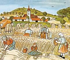 Harvest, painted by Josef Lada Czech painter
