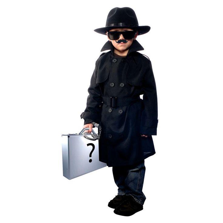 Boys' Jr. Secret Agent Costume Medium (7-8), Boy's, Size: M(7-8), Variation Parent