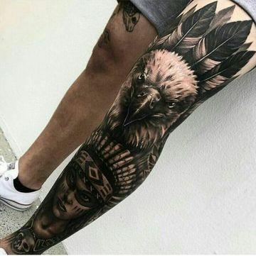 Magnificos Diseños De Tatuajes En El Muslo Para Hombres Tatuajes